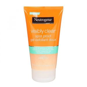 neutrogena gel exfoliant doux spot proof visibly clear le tube de 150 ml comparer avec. Black Bedroom Furniture Sets. Home Design Ideas