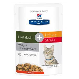Image de Hill's Feline Metabolic + Urinary Stress - 12 sachets de 85 g