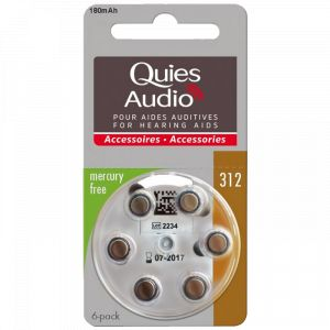 Quies Piles auditives Modèle 312 - Pack de 6