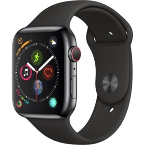 Apple Watch Series 4 + Cellular - 44mm - Acier Noir / Noir