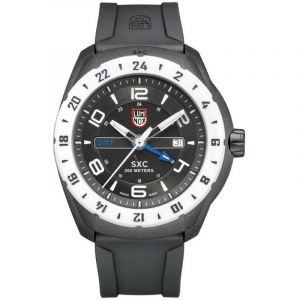 Luminox Montres Sxc Aerospace Pc Carbon Gmt 5027 - Black / White - 45.5 mm