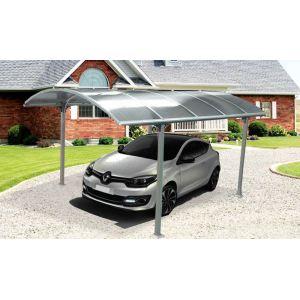 Foresta CAR 3048 ALRD - Carport aluminium toit 1/2 rond 14,8 m²
