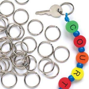 Baker Ross 100 anneaux de clefs en métal