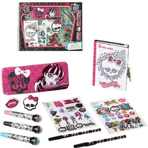 Polymark Coffret papeterie Monster High 100 accessoires