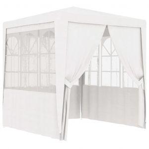 VidaXL Tente de réception avec parois latérales 2x2 m Blanc 90 g/m²