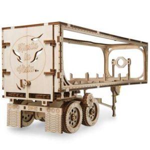 Ugears Puzzle 3D en Bois - Remorque pour Camion Heavy Boy Truck VM-03