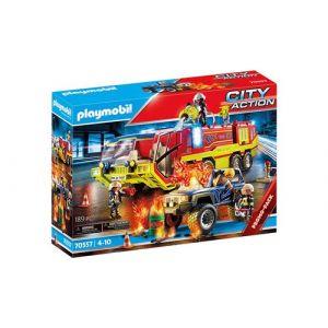 Playmobil City Action 70557 Camion de pompiers et véhicule enflammé