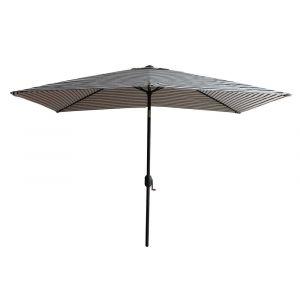 House Bay Parasol rectangulaire droit ajustable rayé blanc/noir