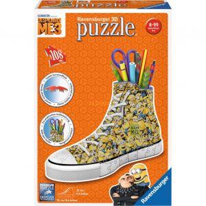Ravensburger Sneaker Pot à crayons les Minions - Puzzle 3D 108 pièces