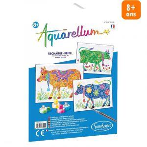 Sentosphère Recharge Aquarellum : Vaches