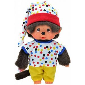 Monchhichi 223190 - Peluche - Garçon En Pyjama Coloré - 20cm