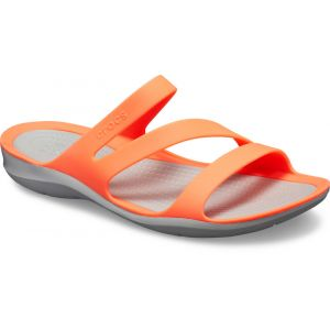 Crocs Swiftwater Sandals Women, bright coral/light grey EU 37-38 Sandales Loisir