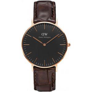 Daniel Wellington DW00100140 - Montre pour homme avec bracelet en cuir