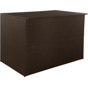 VidaXL Boîte de rangement d'extérieur Résine tressée 150x100x100 cm