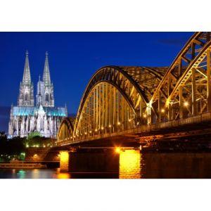 Grafika Puzzle Cathédrale et Pont Hohenzollern de Cologne 100 pièces