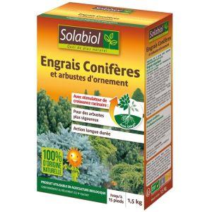 Solabiol Engrais conifères et arbustes d'ornement 1,5 kg - 100% naturel Bio