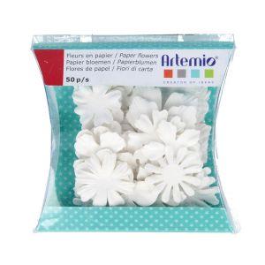 Artémio Fleur en papier blanche Frost Bites 29 pcs