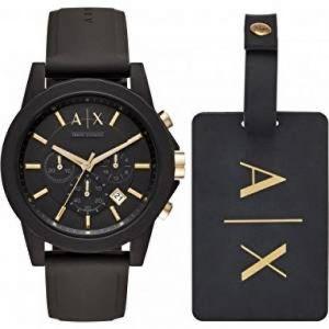 Emporio Armani AX7105 - Montre pour homme avec bracelet en cuir