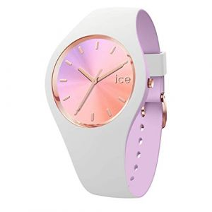Ice Watch Ice-Watch - ICE duo chic White orchid - Montre blanche pour femme avec bracelet en silicone - 016978 (Small)