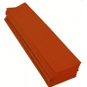Maildor 901058C - Paquet de 10 feuilles de papier crépon 40%, 32 g/m², 2m x 0,50m, coloris orange