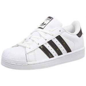 Adidas Superstar, Sneakers Basses Mixte Enfant, Blanc (Footwear White/Core Black/Footwear White), 35 EU