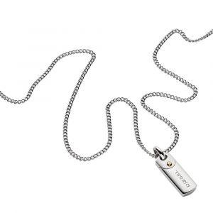 Diesel Collier et pendentif Bijoux DX1116040 - Collier et pendentif Acier Argenté Homme