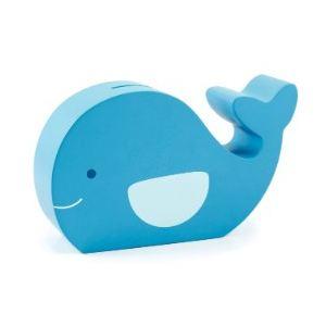 Pearhead Tirelire Fun Friends Moby la baleine en bois