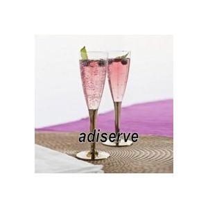 Adiserve 20 flûtes à champagne avec pied or en plastique jetable