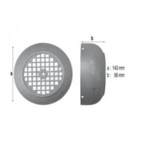 Procopi 581054 - Capot de ventilateur de moteur de pompe Hanning (143 x 56 mm)