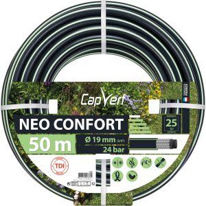 Cap Vert Tuyau d'arrosage Néo Confort - Diamètre 19 mm - Longueur 50 m