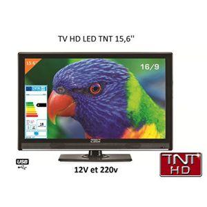 Antarion ATV19HD - Téléviseur LED HD 39,6 cm pour camping car 220v/12v/24v