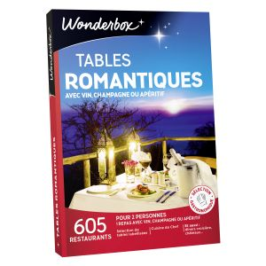 Wonderbox Tables romantiques - Coffret cadeau 605 restaurants
