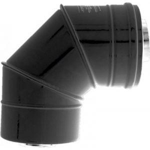 Ten Coude concentrique BIOTEN 87° inox/galva Ø80/125