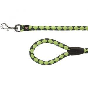 Trixie Cavo laisse S-M : 1 m - ø 12 mm - Vert forêt et vert pomme - Pour chien