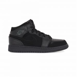 Nike Chaussure Air Jordan 1 Mid Enfant plus âgé - Noir - Taille 38