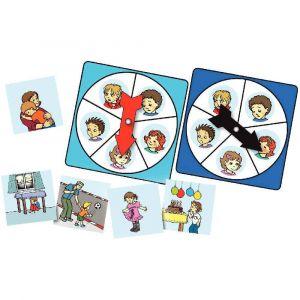 Atelier d'activité sur la connaissance des 5 émotions, pour 1 à 4 joueurs de 3 à 7 ans
