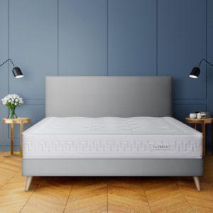 Treca Sommier tapissier à lattes recouvertes Gris - Taille 100x200 cm;140x190 cm;140x200 cm;160x200 cm;90x190 cm;90x200 cm;80x200 cm;120x200 cm