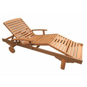 Viva Green Maple Singapour  - Bain de soleil pliant en bois exotique