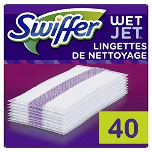 Swiffer WetJet Balai Spray Recharges Lingettes pour tous Types de Sols x20 - Lot de 2