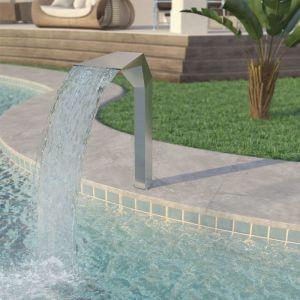 VidaXL Fontaine d'étang Acier inoxydable 50 x 30 90 cm Argenté