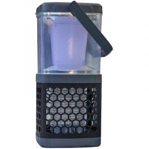 Lumijardin Lampe de table solaire anti moustique noire à LED 10,5x10,5x19 cm