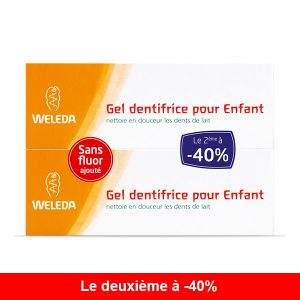 Weleda Lot de 2 Gel Dentifrice Enfant 50ml