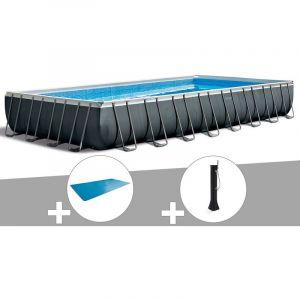 Intex Kit piscine tubulaire Ultra XTR Frame rectangulaire 9,75 x 4,88 x 1,32 m + Bâche à bulles + Douche solaire