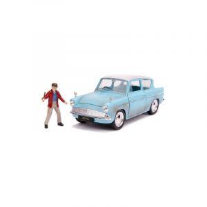 Dickie Toys Majorette - 253185002 - Harry Potter - Ford Anglia 1959 - Roues Libre + Figurine - 1/24ème