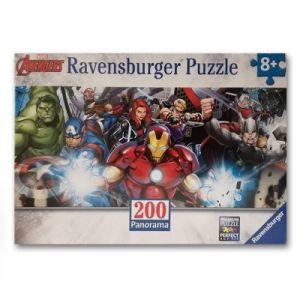 Ravensburger Avengers L'équipe des super-héros - Puzzle 200 pièces panoramique