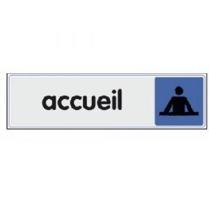 Novap Plaquette signalétique en plexiglass - 170 x 40 mm - Accueil