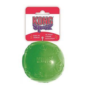 Kong Squeezz Balle - Jouet Interactif pour Chien Taille XL - Coloris aléatoire ( Neuf )