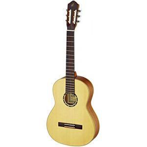 Ortega R121L Guitare de concert gaucher avec housse Epicéa