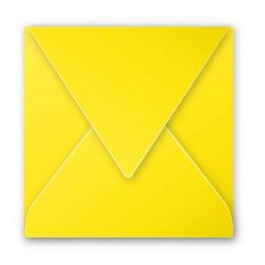 Pollen 12018C - Enveloppe 120x120, 120 g/m², coloris jaune soleil, en paquet cellophané de 20