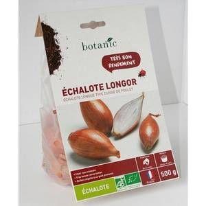 Botanic Bulbes d%u2019échalote longue Longor AB bio calibre 15/40, 500 g